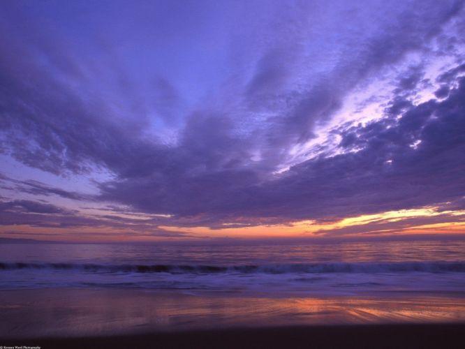 sunset landscapes nature Santa beaches wallpaper