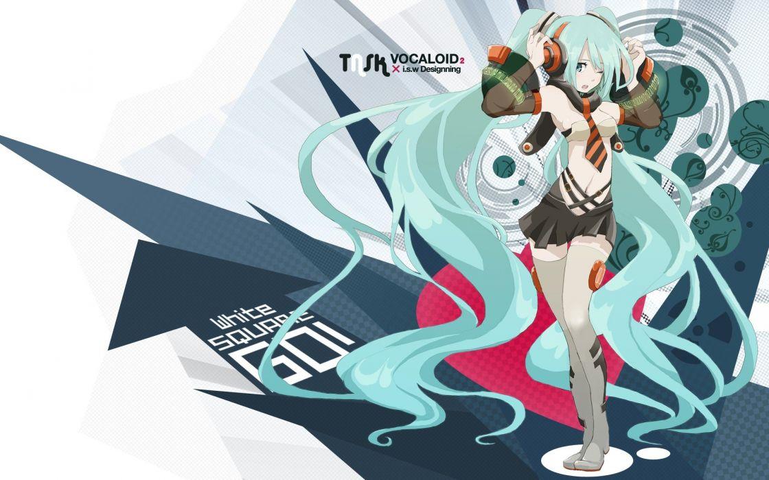 Vocaloid Hatsune Miku twintails detached sleeves wallpaper