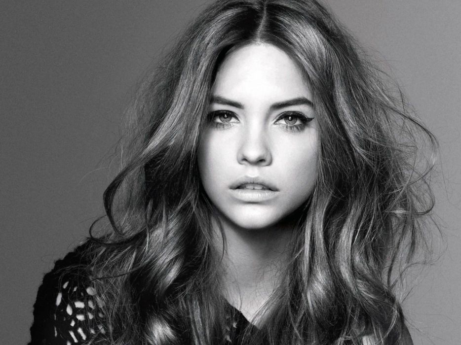 women black and white fashion Hungary magazines Barbara Palvin Vogue magazine top model wallpaper
