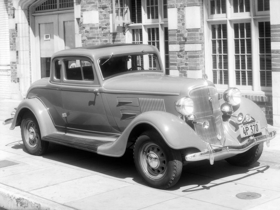 1934 Plymouth P-E Deluxe Coupe retro      g wallpaper