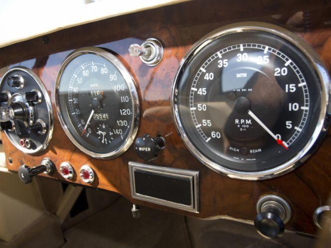 1953 Aston Martin DB24 Fixed Head Coupe Prototype by Mulliner LML-515 retro interior o wallpaper
