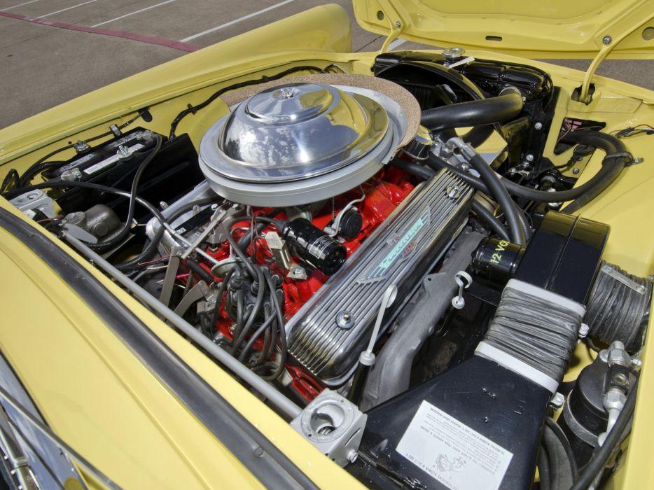 1955 Ford Thunderbird retro engine    g wallpaper