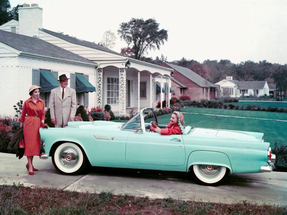 1955 Ford Thunderbird retro     g wallpaper