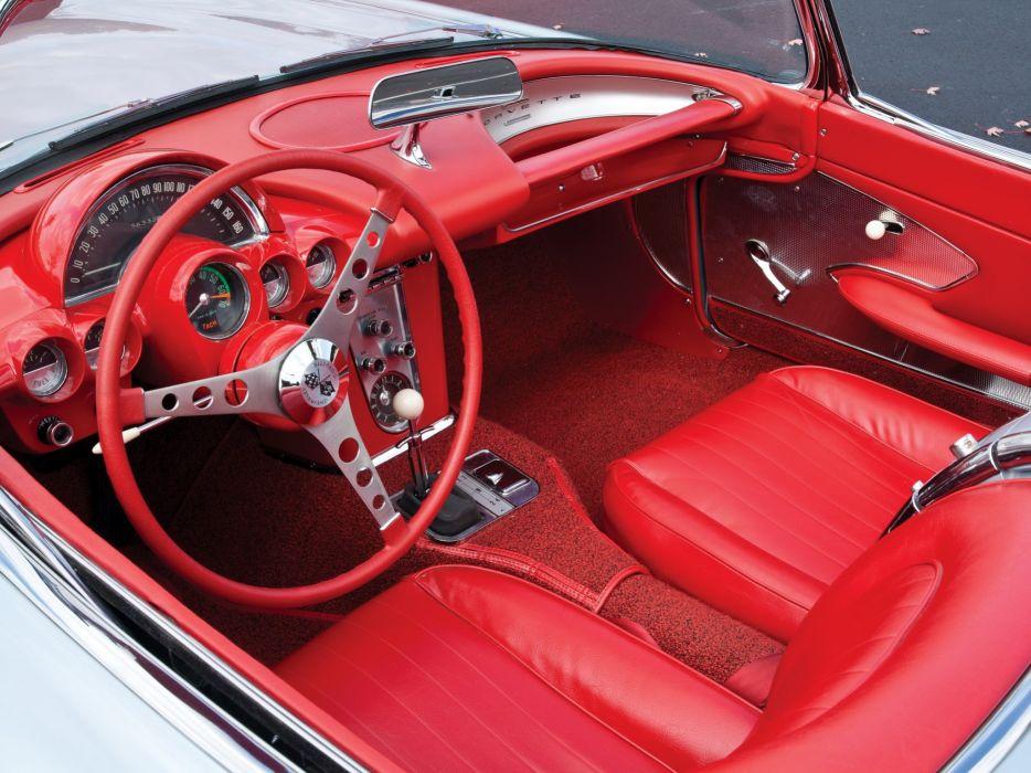 1959-60 Chevrolet Corvette C-1 (867) muscle retro classic supercar interior r wallpaper