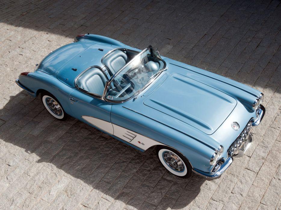 1959-60 Chevrolet Corvette C-1 (867) muscle retro classic supercar fe wallpaper