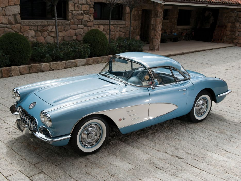 1959-60 Chevrolet Corvette C-1 (867) muscle retro classic supercar fa wallpaper