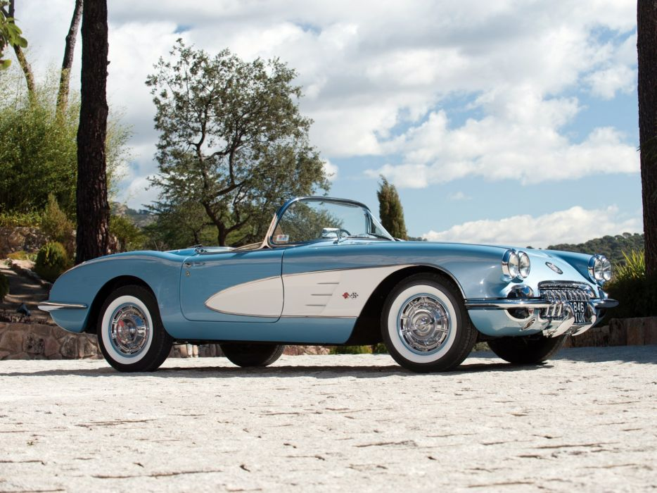 1959-60 Chevrolet Corvette C-1 (867) muscle retro classic supercar  f wallpaper
