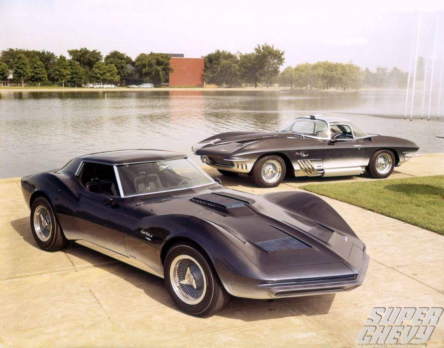 1965 Chevrolet Corvette Mako Shark II Concept supercar muscle hot rod rods   h wallpaper