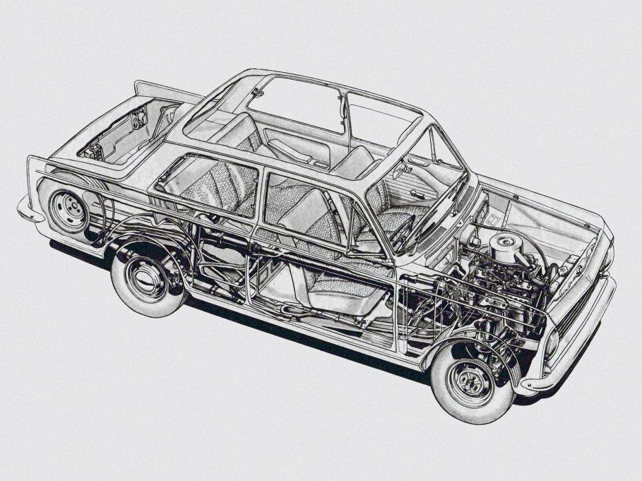 1965 Vauxhall Viva (H-A) classic interior engine    f wallpaper