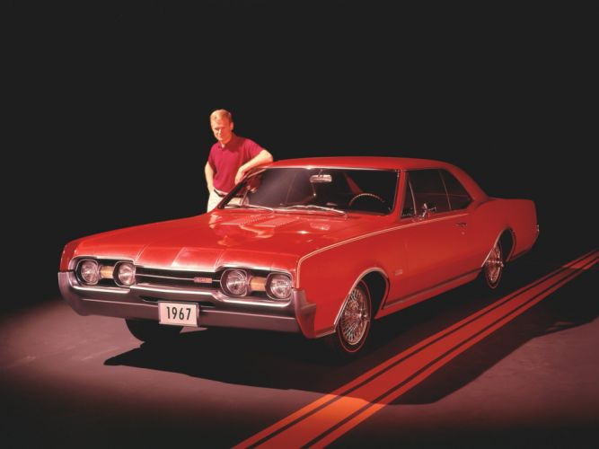 1967 Oldsmobile Cutlass 442 Holiday Coupe (3817) classic g wallpaper