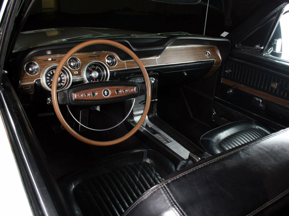 1968 Ford Mustang G-T Hardtop muscle classic interior  j wallpaper