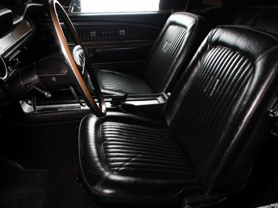 1968 Ford Mustang G-T Hardtop muscle classic interior      f wallpaper