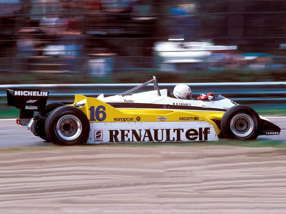 1982 Renault RE30B formula f-1 race racing d wallpaper