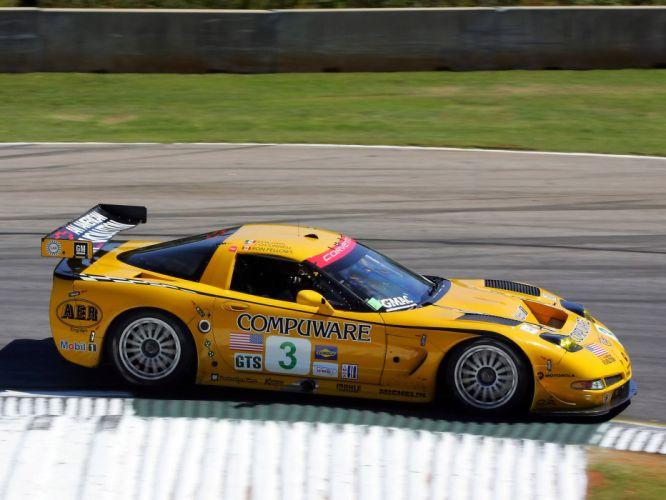 2001-04 Chevrolet ALMS GT1 C5R Corvette race racing supercar w wallpaper