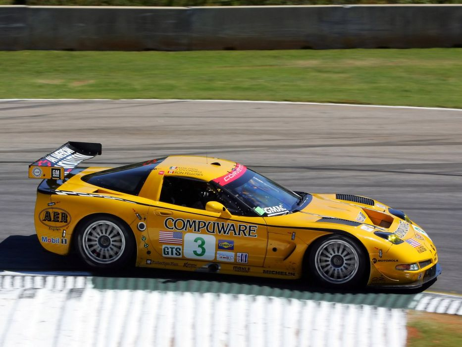 2001-04 Chevrolet ALMS GT1 C5R Corvette race racing supercar w wallpaper