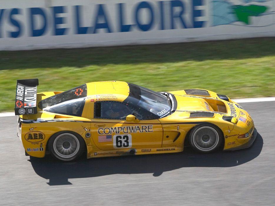 2001-04 Chevrolet ALMS GT1 C5R Corvette race racing supercar  r wallpaper