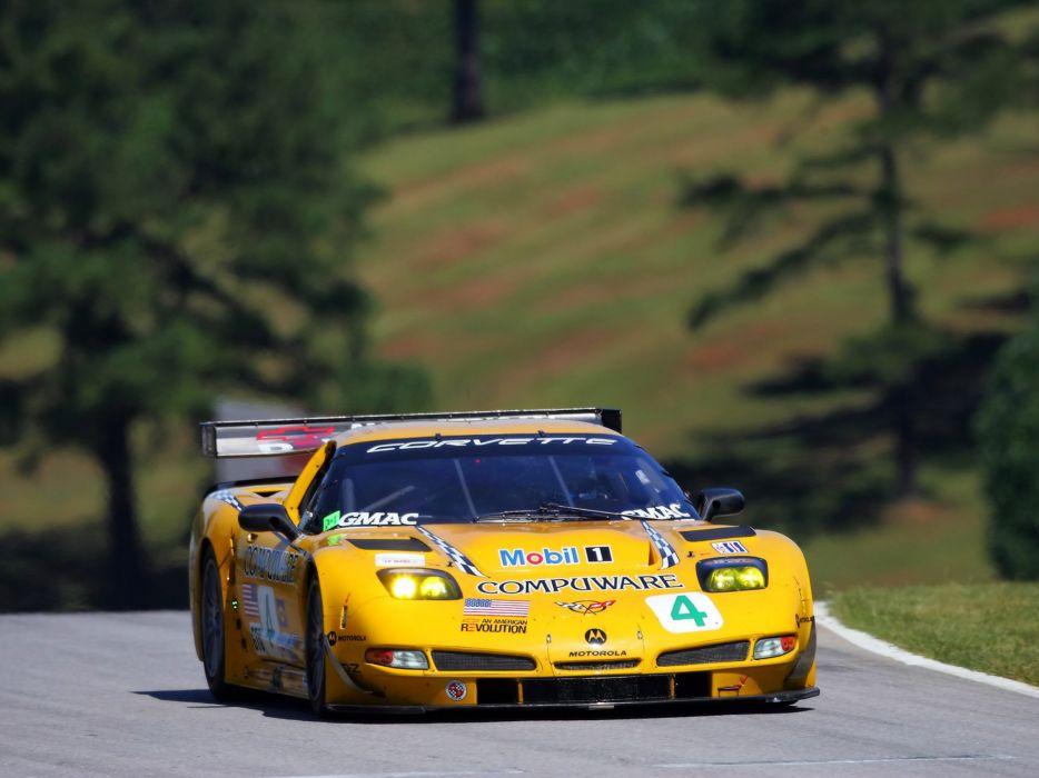 2001-04 Chevrolet ALMS GT1 C5R Corvette race racing supercar  nx wallpaper