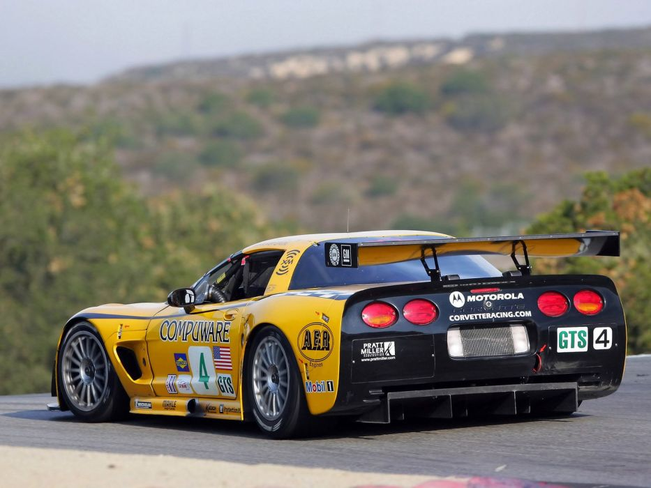 2001-04 Chevrolet ALMS GT1 C5R Corvette race racing supercar  nt wallpaper
