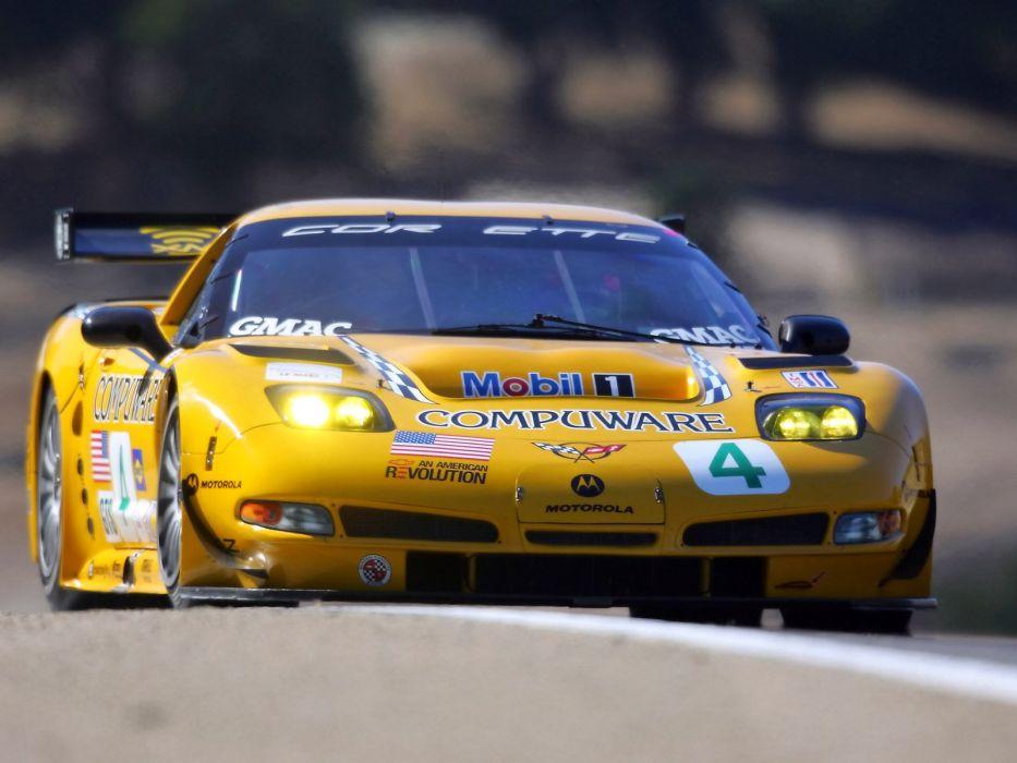 2001-04 Chevrolet ALMS GT1 C5R Corvette race racing supercar  ne wallpaper