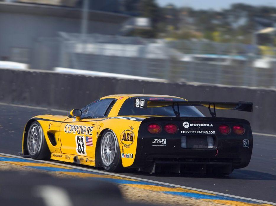2001-04 Chevrolet ALMS GT1 C5R Corvette race racing supercar  fs wallpaper