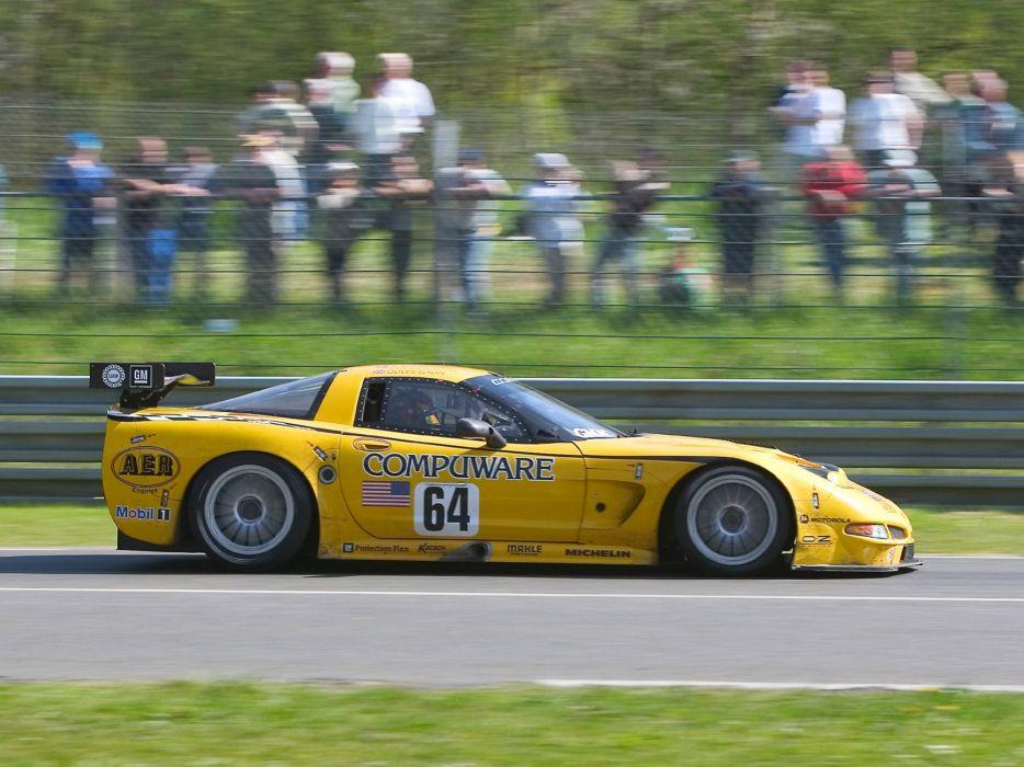 2001-04 Chevrolet ALMS GT1 C5R Corvette race racing supercar  e wallpaper