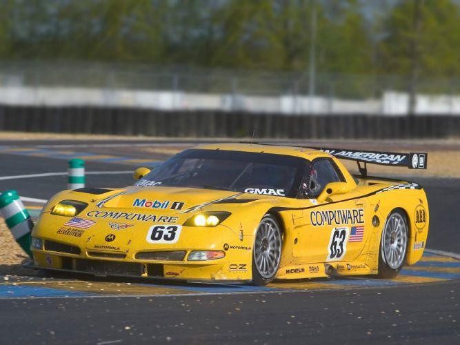 2001-04 Chevrolet ALMS GT1 C5R Corvette race racing supercar f wallpaper