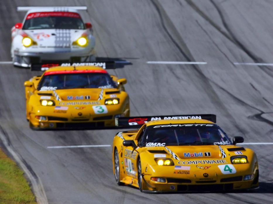 2001-04 Chevrolet ALMS GT1 C5R Corvette race racing supercar   c wallpaper