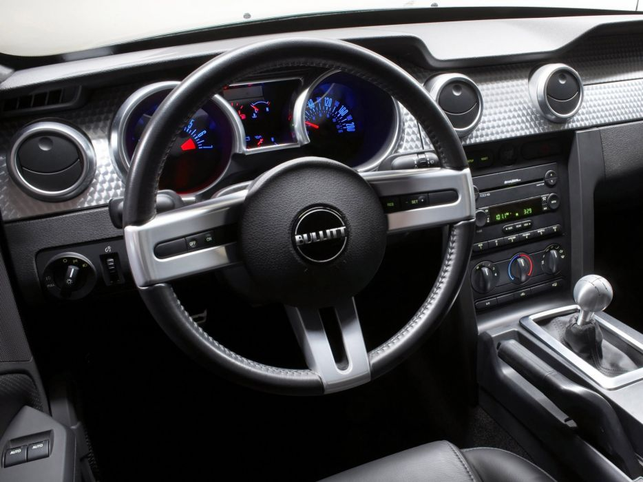 2008 Ford Mustang Bullitt muscle interior    j wallpaper