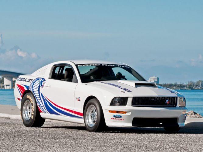 2008-09 Ford Mustang FR500CJ Cobra Jet drag racing race muscle hot rod rods g wallpaper