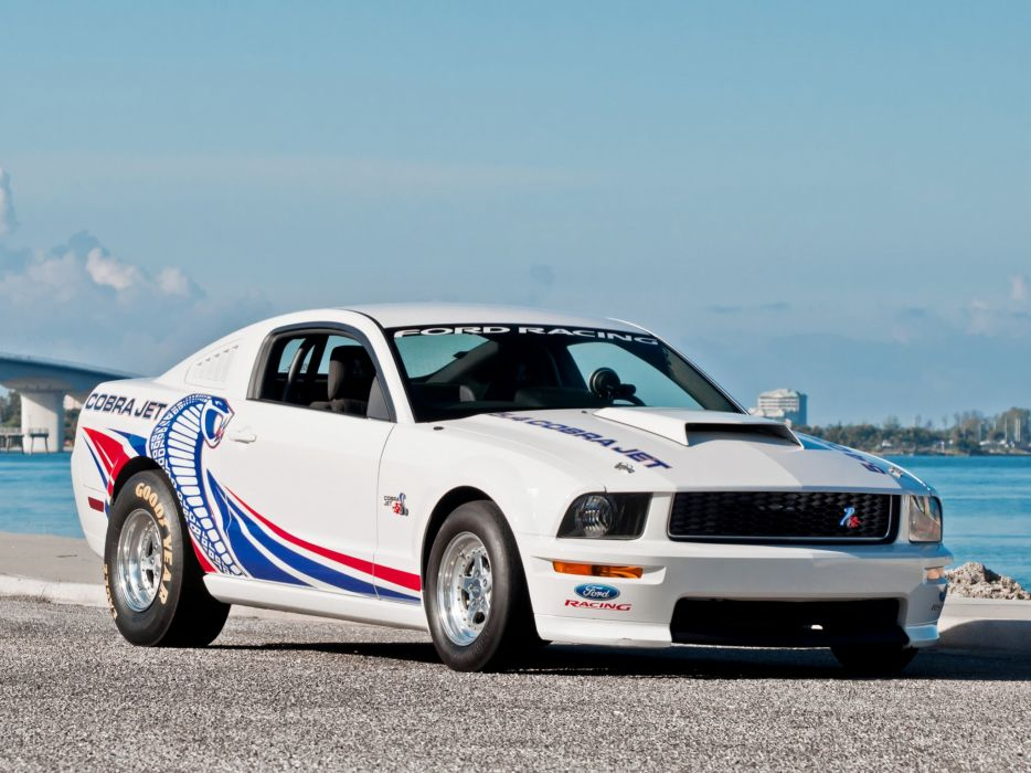 2008-09 Ford Mustang FR500CJ Cobra Jet drag racing race muscle hot rod rods    g wallpaper