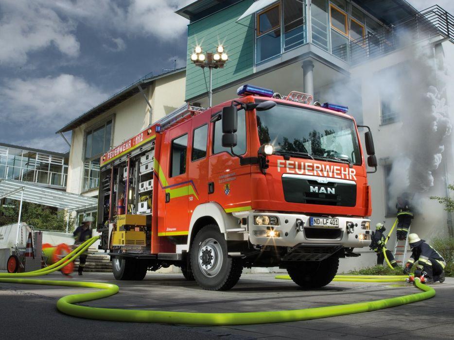 2008 MAN TGM Schlingmann HLF firetruck emergency semi tractor     g wallpaper