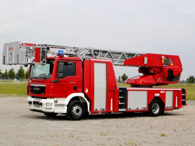 2008 MAN TGM Metz Type-L32A firetruck emergency semi tractor g wallpaper