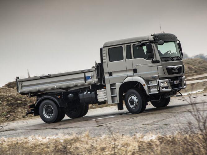 2012 MAN TGM 18-340 FAK Crew Cab Meiller-Kipper semi tractor dumptruck hg wallpaper