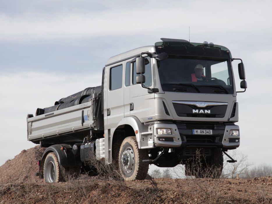2012 MAN TGM 18-340 FAK Crew Cab Meiller-Kipper semi tractor dumptruck  gs wallpaper