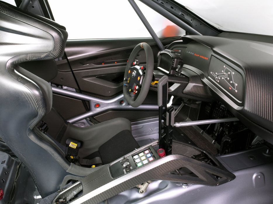 2013 Seat Leon Cup Racer race racing interior  f wallpaper