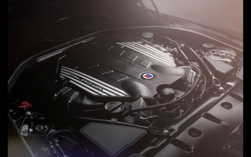2014 BMW Alpina B6 Bi-Turbo Gran Coupe engine f wallpaper