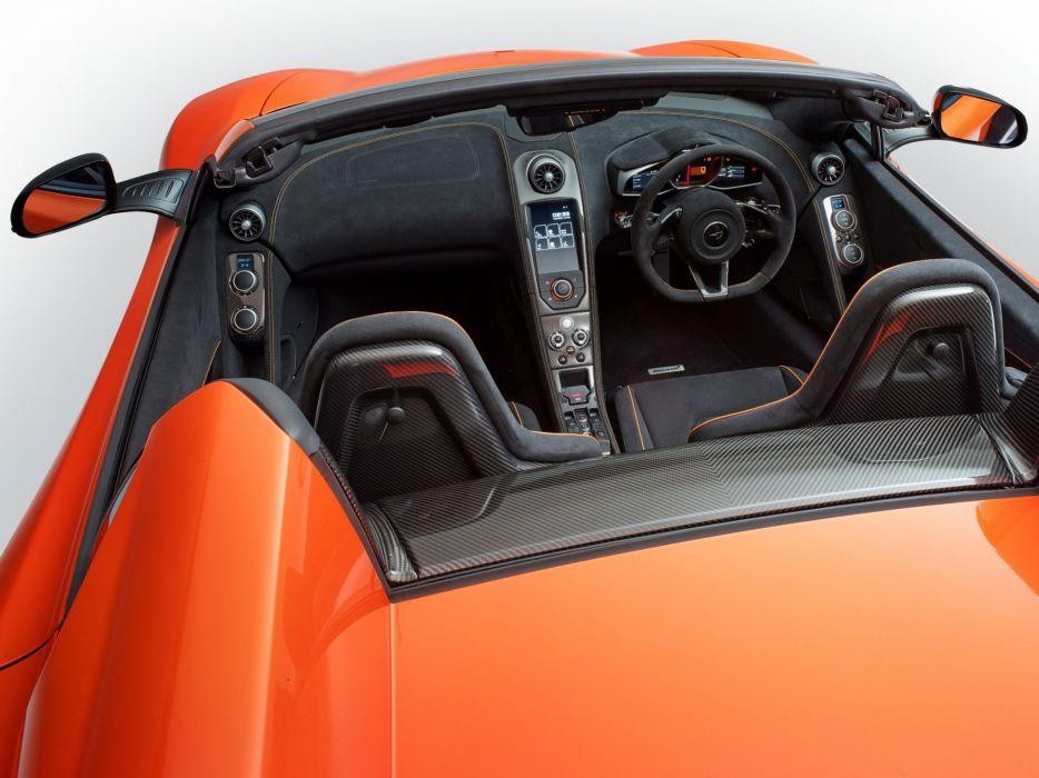2014 McLaren 650S Spyder UK-spec supercar interior    f wallpaper