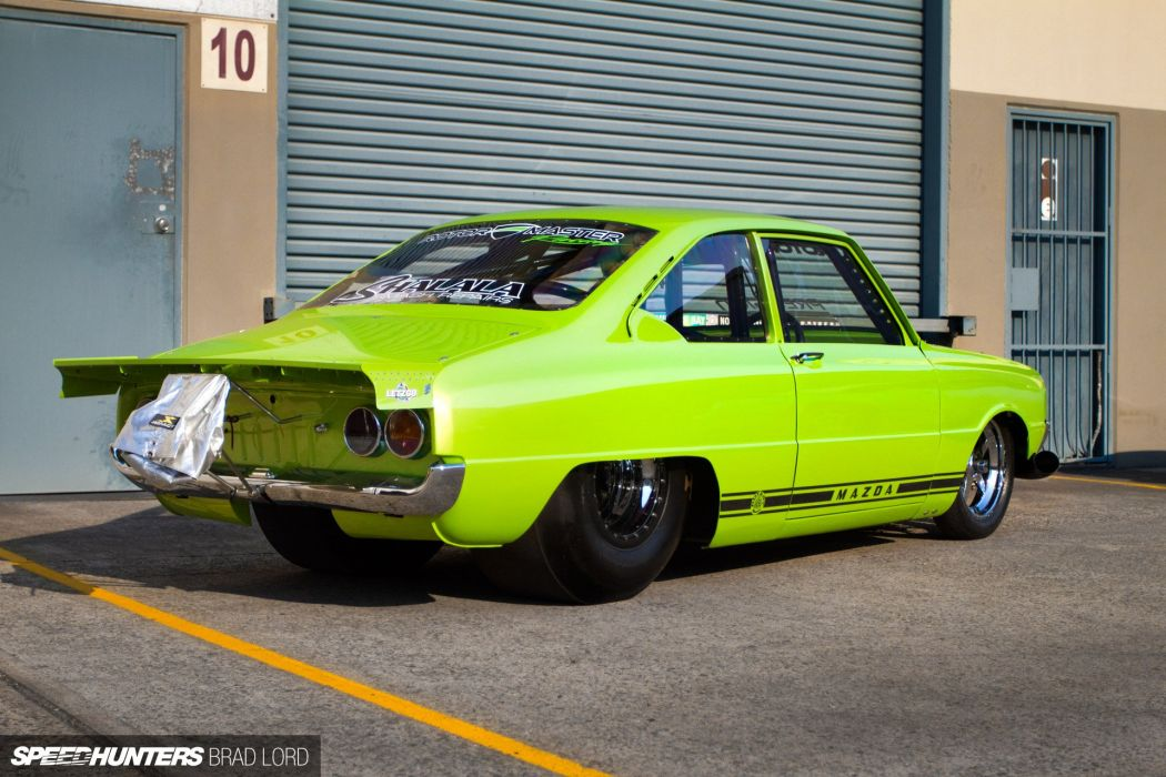 mazda r100 drag racing race hot rod rods   f wallpaper