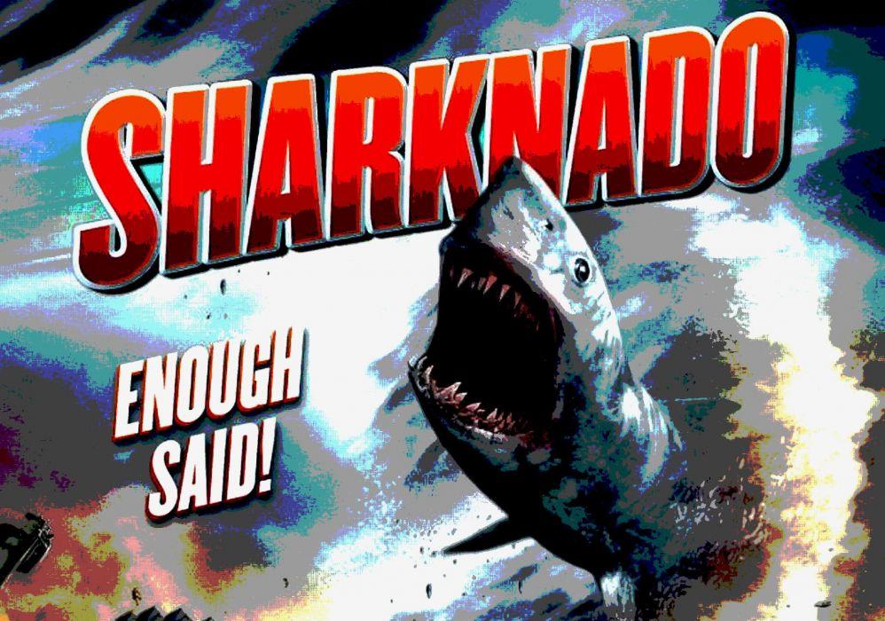 SHARKNADO horror sci-fi television movie film (3) wallpaper