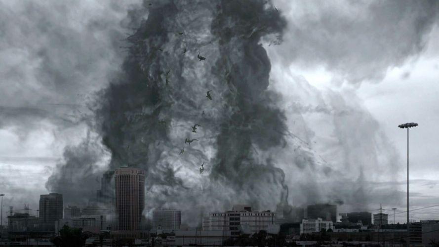 SHARKNADO horror sci-fi television movie film storm wallpaper