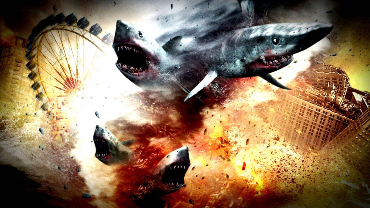 SHARKNADO horror sci-fi television movie film wallpaper