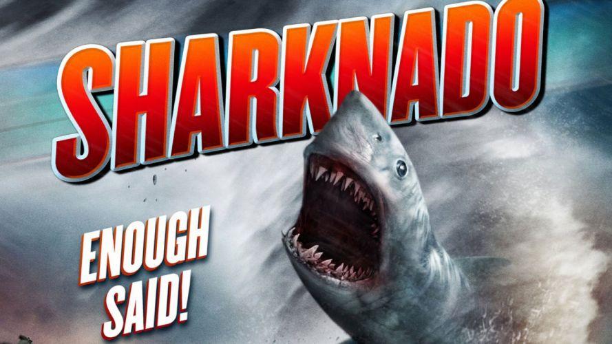SHARKNADO horror sci-fi television movie film poster wallpaper