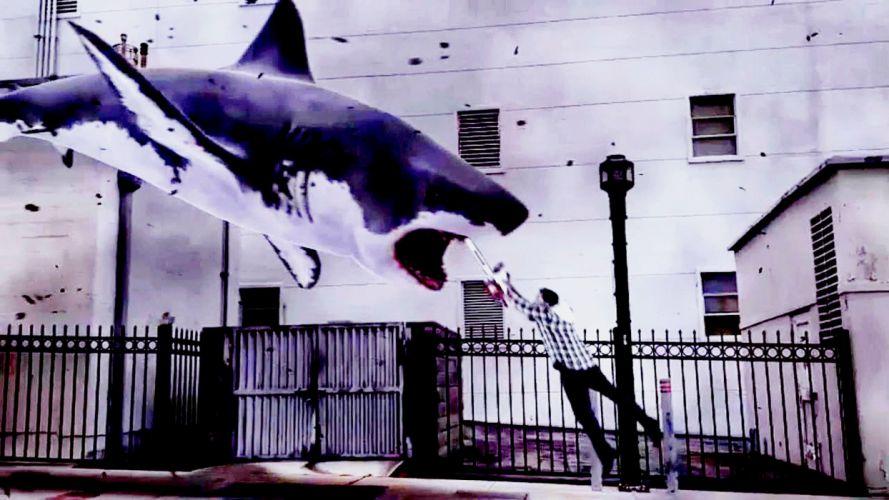 SHARKNADO horror sci-fi television movie film shark wallpaper