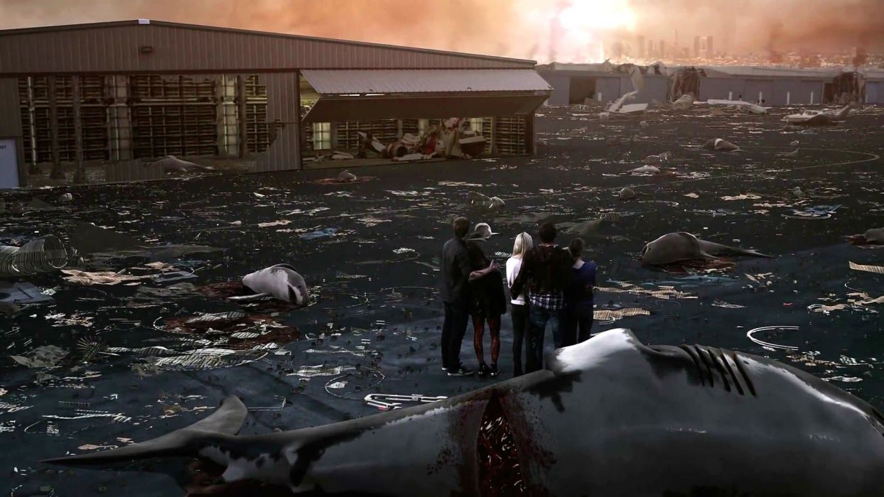 SHARKNADO horror sci-fi television movie film shark apocalyptic wallpaper