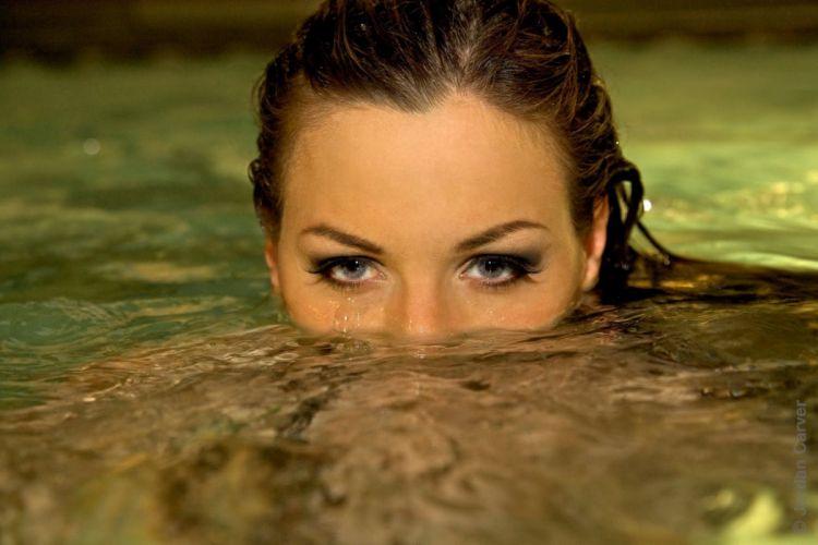 Jordan Carver pool night photoshoot (1) wallpaper