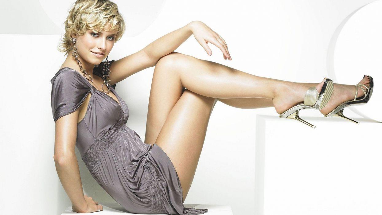 blondes legs women dress models high heels Lena Gercke earrings wallpaper
