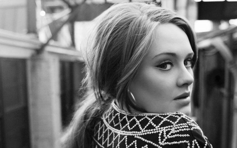 women grayscale Adele (singer) wallpaper