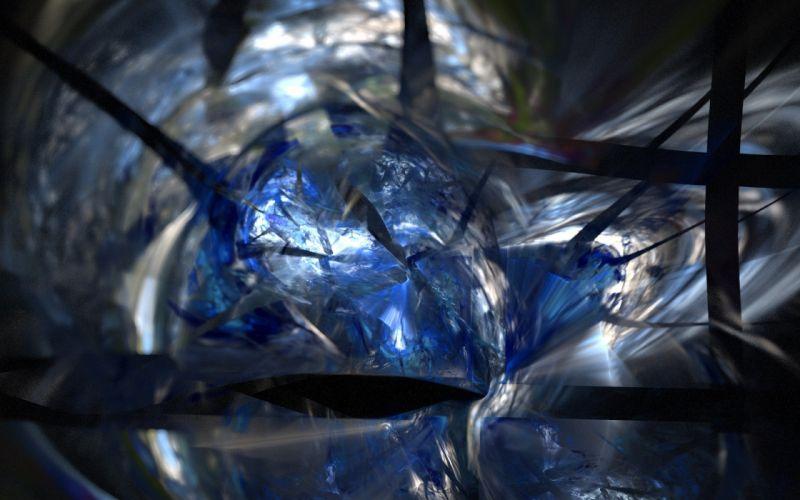 blue fractals wallpaper