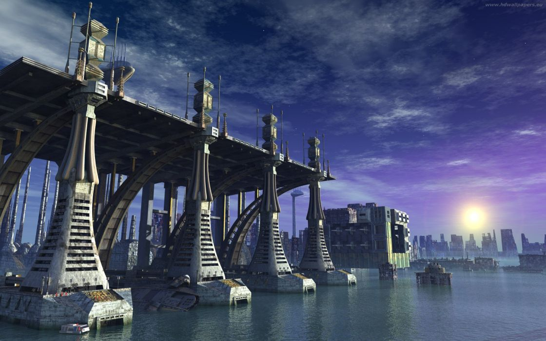 water cityscapes wallpaper