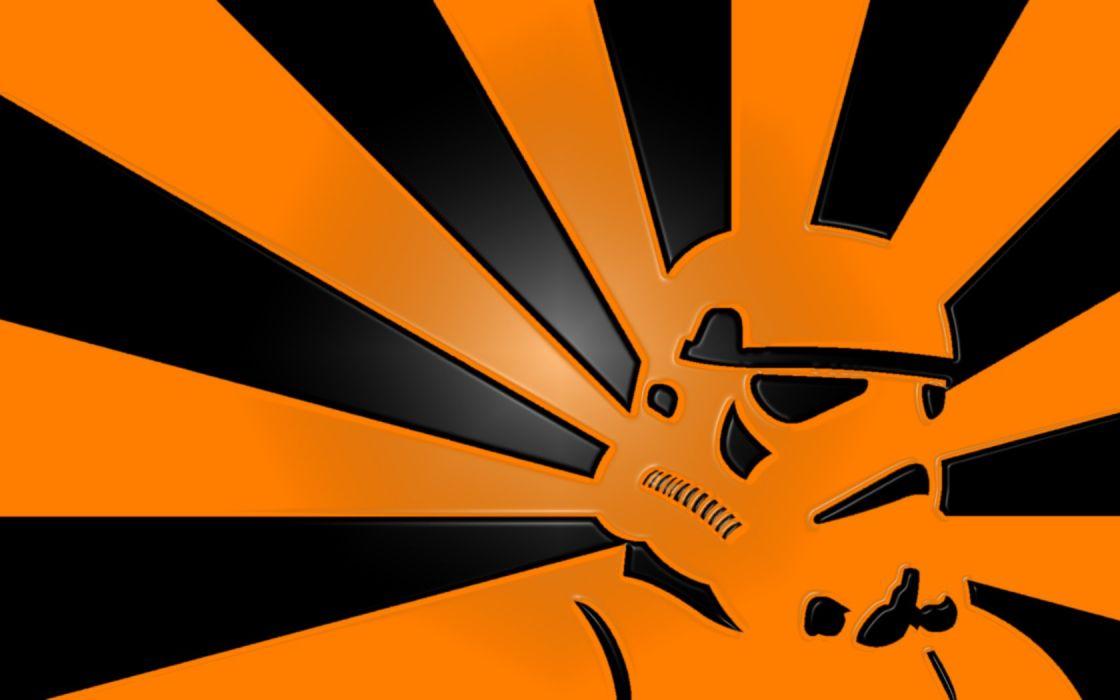 Star Wars stormtroopers orange wallpaper